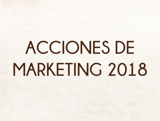Acciones De Marketing 2018
